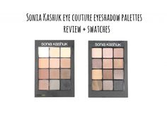 Sonia Kashuk eye couture eyeshadow palette review + swatches