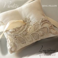 Luxurious Wedding Accessories — Ring Bearer Pillows Ivory