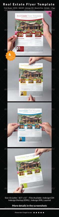 Real Estate Flyer Template Vol  Shops Home And Flyer Template