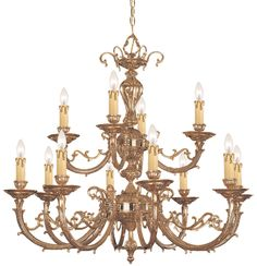 Olde World 12 Light Candle Chandelier