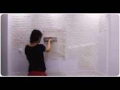 Alçı ile Tuğla Görünümlü Dekoratif Duvar Yapılışı - Mutfak Duvarım - YouTube