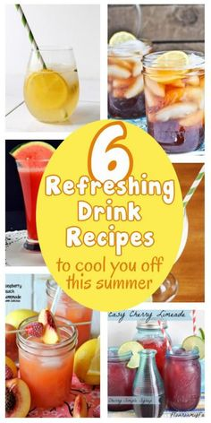 diy home sweet home: 6 Refreshing drink recipes to keep you cool this summer. kid friendly