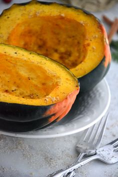Honey Glazed Acorn Squash #glutenfree