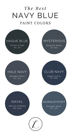 Ideas For Blue Front Door Paint Colors Hale Navy Navy Paint, Blue Paint Colors, Bathroom Paint Colors, Wall Colors, Navy Colour, Exterior Paint Colors For House, Paint Colors For Home, Exterior Colors, Wall Exterior