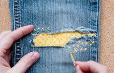 Как украсить джинсы яркими заплатками #мастеркласс #burdastyle #burda