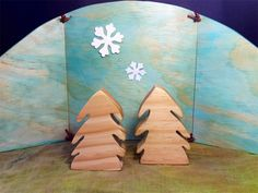 Reversible Nature Table backdrop. christmas waldorf steiner | Folkwood | madeit.com.au