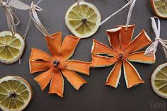 Dehydrated Orange and Clove Christmas Ornaments