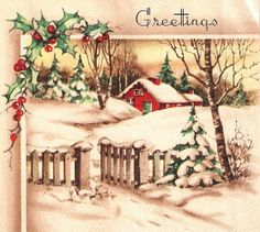 Christmas card...pretty winter scene