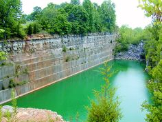Empire Quarry Lawrence County IN. The limestone for the Empire State Building came from this quarry. The Bedford, Bedford Indiana, The Places Youll Go, Places To Visit, Limestone Quarry, Lawrence County, Empire State Building, Day Trips, State Parks