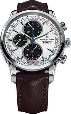 Maurice Lacroix Pontos PT6288-SS001-130 Herren Automatikchronograph Massives Gehäuse | Your #1 Source for Watches and Accessories