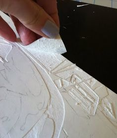 Belinda Del Pesco, Collagraph  Mat board plate is first sealed with a few layers of Liquitex Gloss Medium Varnish, then layers are cut/peeled away. The gloss medium makes peeling easier (resists accidental ripping)