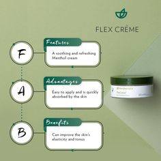 FlexCrème™ is a unique proprietary topical crème that comforts tension and soothes the body for healthy mobility. Nu Skin, Beyond Skin, Mint Oil, Healthy Skin Care, Skin Elasticity, Medical Prescription, Body Butter, Beauty Care, How To Apply