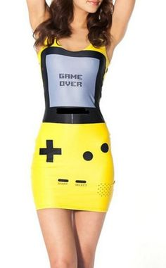 bda5272fb6e6 2014 Women new Gamer Yellow Dress digital print galaxy Skull summer Vest  Tops