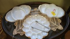 Old Fire-King Service Plates Kitchenware, Tableware, Punch Bowls, Serving Bowls, Primitive, Plates, Dishes, Chic
