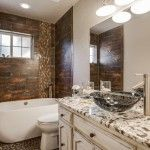 A click & pin photo gallery filled with pictures of Modern Master Bath ideas based on a recent project in the Dallas Fort Worth area. Farmhouse Vanity, Small Tiles, White Sink, Bath And Beyond Coupon, Bath Design, Bath Remodel, Master Bath, Modern, Bath Room