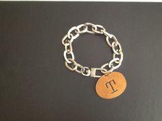 T Charm Bracelet Silver