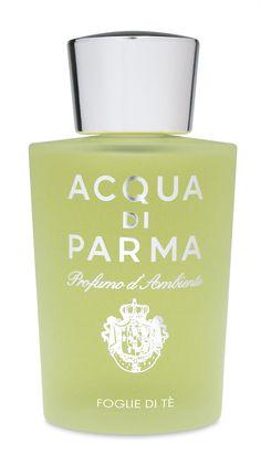 Acqua di Parma Home Fragrance Room Spray Foglie di Tè 180ml  Acqua di Parma Home Fragrance Room Spray Foglie di Tè. De tijdloze elegantie van Acqua di Parma Foglie di Tè in een kamer sproei-formaat.  EUR 66.00  Meer informatie