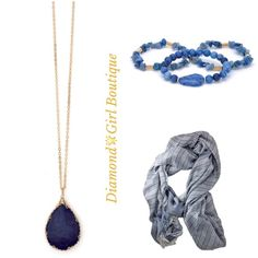 Luxurious Lapis Necklace Beautiful genuine Lapis Lazuli necklace on a long gold tone chain makes a statement to any outfit..Items styled with it also available, bundle and save.. Jewelry Necklaces