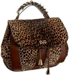 D Dolce & Gabbana Handbag - Leopard Print Accessories