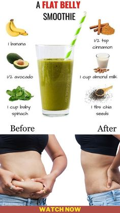 Flat Belly Smoothie, Smoothie Diet, Weight Loss Smoothie Recipes, Best Weight Loss Program, How To Increase Energy, Food Cravings, Chia Seeds, Breakfast Ideas, Easy