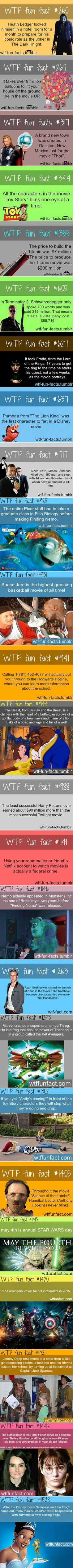 Here are some fun and random tv, movie, comic book facts that might surprise you (though the grammar in some make me squirm).: