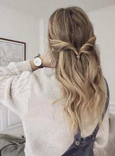 Hairstyles Updo Easy Lazy Girl Cas 48 Ideas For 2019 Frisuren Hochsteckfrisur Easy Lazy Girl Cas 48 Messy Hairstyles, Pretty Hairstyles, Cute Everyday Hairstyles, Hair Styles Everyday, Simple Hairstyles For School, Casual Hairstyles For Long Hair, Wedding Hairstyles, College Hairstyles, Toddler Hairstyles