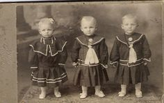 How adorable is this? Frank, Joseph & Mary Langhorst age one