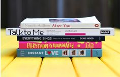 The concept of book spine poetry appeared in 1993 with Nina Katchadourian's Sorted Books project. Katchadourian began collecting interesting titles and arr