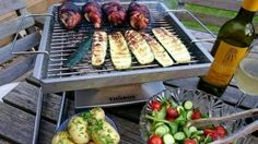 At BigFire we love our food especially when its cooked on a BBQ or over a fire.  So why not try our summer evening tabletop treat for two this bank holiday?  Stuffed Chicken Thighs wrapped in Smoked Streaky Bacon with Asian Dressed Salad and Grilled Courgettes