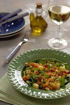 Cinco Quartos de Laranja: Salada de grão com cenoura assada e queijo feta