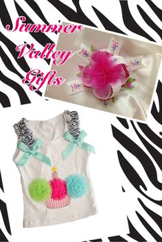Birthday Tank and matching Hairbow - get a great price on the combo!