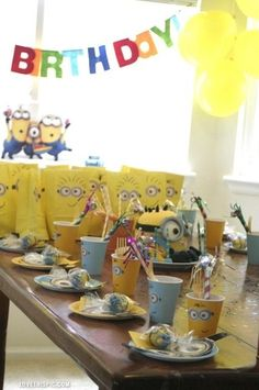 Minion Birthday Party Pictures, Photos, and Images for Facebook, Tumblr, Pinterest, and Twitter Pinterest