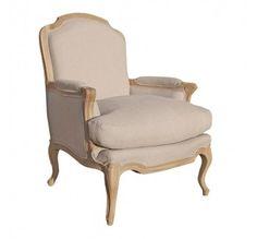 Villenuve Oak French Sofa Chair