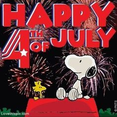 Happy 4th of July from Snoopy usa america snoopy red white blue 4th of july independence