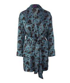 Christelle Short Silk Robe at Liberty
