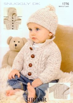 Sweater, Jacket & Hat in Sirdar Snuggly DK - 1776. Discover more Patterns by Sirdar Snuggly at LoveKnitting. We stock patterns, yarn, needles and books from all of your favorite brands.