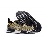 Adidas NMD R1 Primeknit Trainers Yellow Camo/Black Mens & Womens