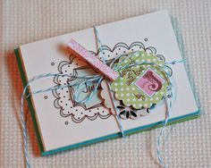 Divine Twine for packaging - gift set of cards. Make matching clothespin.