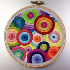 Done! #handembroidery #embroidery #stitch #stitching #handstitching #sew #sewing #handsewing #handsewn #satinstitch #hoop #hoopart #embroideryart #allthecolours #circle #circles #colour #happy #handmade #madebyme #diy #decoration #etsy #etsyshop #etsyseller #thegrumpycrafter #embroideryinstaguild