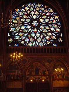 "The ""Rose"" window in Sainte Chappelle"