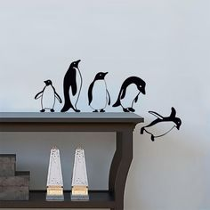 Details about Penguins jumping flying funny Vinyl Wall Sticker Decor Decal Mural KItchen Pets - pfuk stuff Simple Wall Paintings, Creative Wall Painting, Wall Painting Decor, Painting Murals On Walls, Wall Decals For Bedroom, Kitchen Wall Stickers, Vinyl Wall Stickers, Wall Vinyl, Decals For Walls