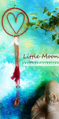 Attrape-rêve coeur Dreamcatcher with heart  * Little Moon handmade creation