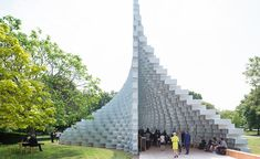 Bjarke Ingels' BIG unveils its 2016 Serpentine pavilion, built from extruded square tubes of glass fibre and reinforced and bolted together using hundreds of T-shaped aluminium brackets