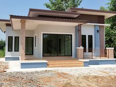 Home exterior cottage beautiful 37 New Ideas Modern Bungalow House Design, Simple House Design, House Front Design, Minimalist House Design, Modern House Plans, 3 Storey House Design, May House, Two Bedroom House, Latest House Designs