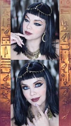 Edgy Makeup, Gothic Makeup, Fantasy Makeup, Makeup Geek, Makeup Art, Makeup Ideas, Cleopatra Makeup, Egyptian Makeup, Arabic Makeup