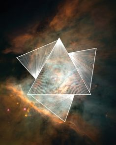 Cosmic Triangles Art Print