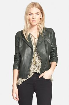 Truth & Pride 'Luna' Leather Moto Jacket available at #Nordstrom