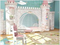 Princess Nursery - The Sims 4 Catalog Sims 4 Cc Furniture, Kids Bedroom Furniture, Modern Furniture, Bedroom Decor, Furniture Layout, Plywood Furniture, Furniture Ideas, Furniture Design, Outdoor Furniture