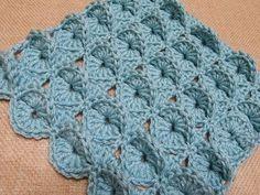 Punto a cerchi in rilievo all'uncinetto - Circles in relief stitch crocheted - Solo Video Uncinetto