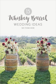 With their rustic charm and versatility, whiskey (and wine) barrels are an easy way to really bring your wedding decor from drab to fab. From flowers stand